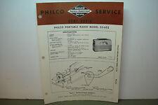 PHILCO RADIO SERVICE MANUAL MODEL PORTABLE 53-652