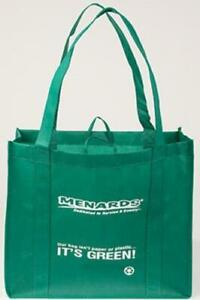 LOT OF 7 LARGE SHOPPING GROCERY TOTE BAGS REUSABLE FOLDABLE LIGHT GUSSETED GREEN