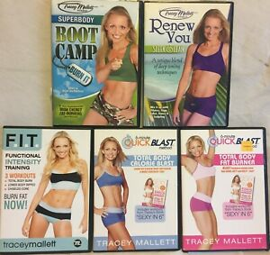 5 Tracey Mallett workout DVDs Functional Intensity Training Renew You boot camp