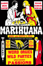 Vintage Anti-Marijuana Reefer 11 x 17 Reproduction Movie Poster