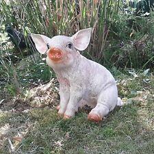 Gartenfigur Gertendeko Wutz Schwein Schweinchen Ferkel Bauernhof Tiere Tier 7854
