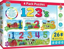 MasterPieces Edu 4 Puzzle Pack Puzzles Collection - 123 on the Farm 4 Puzzle Pac
