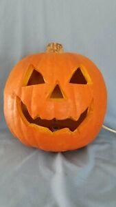 Vintage Gemmy Foam Light Up Pumpkin Jack O Lantern Halloween