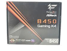 ASRock Fatal1ty B450 GAMING K4 AM4 AMD B450 SATA 6Gb/s HDMI ATX Motherboard NEW