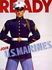 PROPAGANDA WWII WAR MARINES ENLIST USA ART POSTER PRINT LV3781