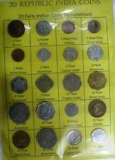 Republic India Coin Set 16 Rare Extra Fine Condition Coins 1930-70