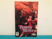 Dynasty Tactics  ps2 MANUAL ONLY