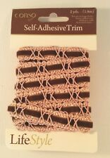 Conso 2 yards Self Adhesive Trim Pink and Brown