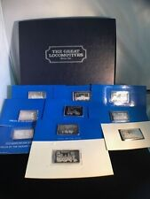 1974 The Great Locomotive Series 1 Silver Set,  10oz of .9999 Fine Silver Bars