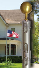 21 FT EZ pole Flag Pole  Residential No Furl Tangle Free Telescoping Flagpole