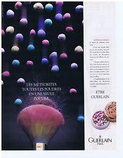 PUBLICITE ADVERTISING 104 1987 GUERLAIN le météorites poudre