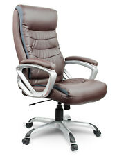Bürostuhl Chefsessel Drehstuhl Kunstleder Schreibtischstuhl EAGO Eg-226 braun