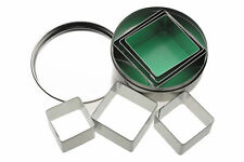 KITCHENCRAFT Set 6 Square Metal Biscuit/Cookie Cutters. Home Baking Cakes.
