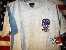 OFFICIAL FDNY T SHIRT GRAY NEW YORK CITY FIRE DEPT XL