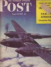 1942 Saturday Evening Post  August 29-Franklin Institute; P-38; New Zealand;Szyk