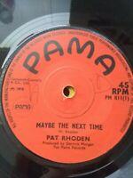 "Pat Rhoden-Maybe Next Time/Got To See You 7"" Vinyl Single UK REGGAE 1970"