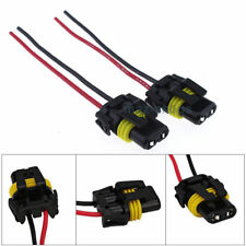 2x Wire Pigtail Female 9006 HB4 Harness Adapter Headlight Plastic Plug Connector