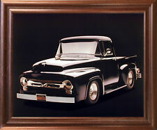 1956 Black Ford F 100 Pick Up Vintage Truck Greg Smith Wall Decor Framed Picture