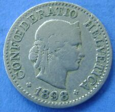 1898  Zwitserland - Switzerland  10 Rappen 1898 B - KM# 27