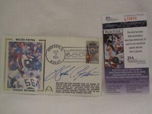 "Walter Payton HOF Autographed 3.5"" x 6.5"" FDC Cachet Envelope JSA Cert"