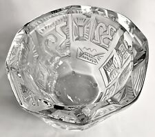 Lalique Crystal Bowl Commemorating the 32nd America's Cup Sailing Regatta MINT