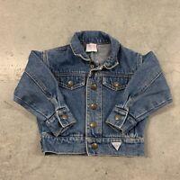 Vintage 90's Baby Guess Denim Jean Jacket Size Girls USA 12 months
