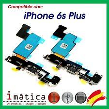 CONECTOR DE CARGA PARA iPHONE 6S PLUS FLEX JACK AURICULAR MICROFONO CABLE BLANCO
