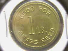 Good For 1 lb. Grass Seed SQUAW PEAK LAWN SERVISE Phoenix, Arizona: Brass Token