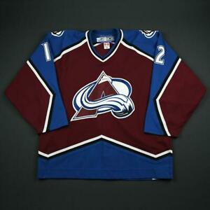 2006-07 Brad Richardson Colorado Avalanche Game Used Worn Hockey Jersey MeiGray