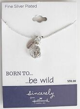 Hallmark Sincerely Born to be Wild Leopard Cat Necklace Silver Plated Brass, $50
