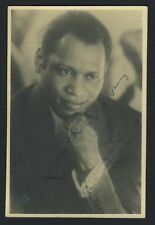 Paul Robeson (Opera): Signed Postcard Photograph