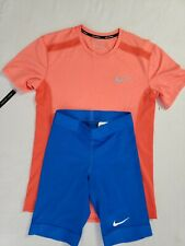 Nike Training Kit Shirt and half tights Men Size small track and field combo