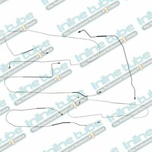 2000-2003 Buick LeSabre Preformed Brake Line Set WITH ABS Complete 9pc Tubes OE