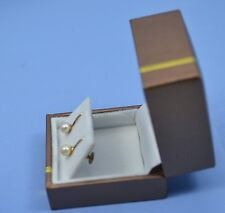Clamp Yellow Gold Fine Pearl Earrings