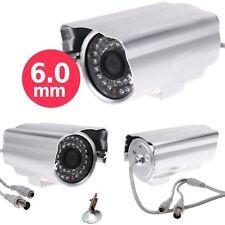 TELECAMERA VIDEOSORVEGLIANZA HD CCD 6 MM 700 Linee TVL 48 LED INTERNO ESTERNO
