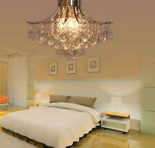 K9 Crystal Glass Chandelier Ceiling Light Mini Style Flush Mount Chrome Finish