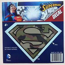 "DC Superman Camouflage Camo ""S"" Shield Logo Emblem Car Window Sticker Decal"