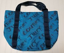 Juicy Couture Blue Tote Handbag Shoulder Bag travel tour beach cruise overnight