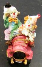 Very Cute Two Clowns in Car Figurine