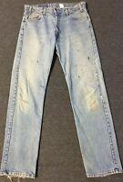 Vtg Levi's 505 Orange Tab Jeans 36/34 Faded Distressed 80s 90s Grunge Biker USA