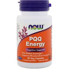 PQQ Energy (Pyrroloquinoline Quinone) -30 Vcaps by Now Foods - Cognitive Support