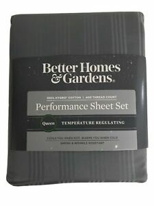 QUEEN Sheet Set 400 Thread Count Better Homes and Gardens 100% Hygro Cotton