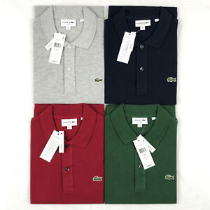 Lacoste Men's Polo Shirt Slim Fit Cotton Polo Shirt Short Sleeve