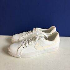 Nike Court Royale AC Canvas CD5405-101 Women's Sneakers White Size 9.5