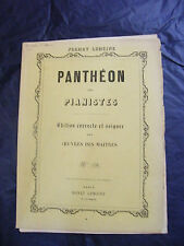 Partition Panthéon des Pianistes Henry Lemoine  Music Sheet Grand Format
