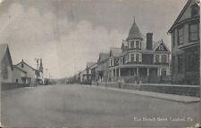 Postcard PA Pennsylvania East Bertsch Street Carbon County ca1907-15