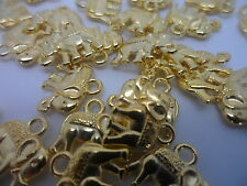 20 x Elephant Charms~Gold Tone 12x14mm~Card earring Jewellery making craft hobby