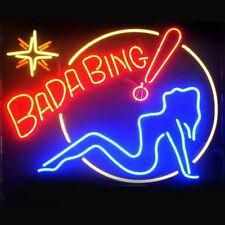 """New BADA BING GIRL Bar Bee Neon Sign 20""""x16"""""""