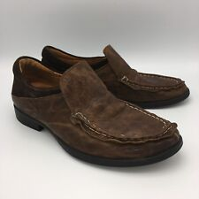 THINK Brown Leather Loafers Slip On Shoes Mens 9 - 9.5 EUR 42 European MSRP $345