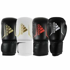 Adidas Speed 50 Boxing Gloves Sparring Black Red Gold White Adults Kids 4-16oz